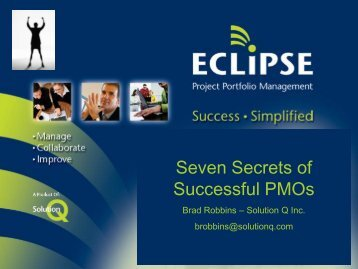 Seven secrets of successful PMOs
