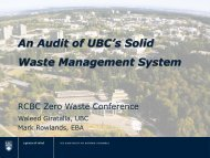 An Audit of UBC's Solid Waste Management System