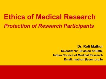 Ethics of medical research - The INCLEN Trust