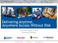 Download the presentation - Data Networks