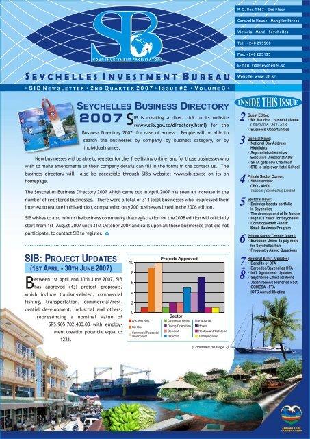 seychellesinvestmentb ureau seychelles business directory