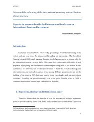 Crises and the reforming of the international monetary system ...