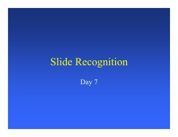 Slid R iti Slide Recognition