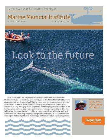 Newsletter 4 - Marine Mammal Institute - Oregon State University