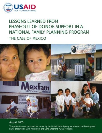 lessons learned from phaseout of donor support in ... - POLICY Project