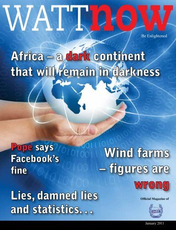 download a PDF of the full January 2011 issue - Watt Now Magazine