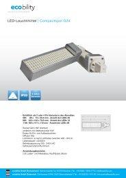 LED-Leuchtmittel | Compactspot G24 - ecobility GmbH