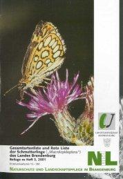 Rote Liste der Schmetterlinge - LUGV - Land Brandenburg
