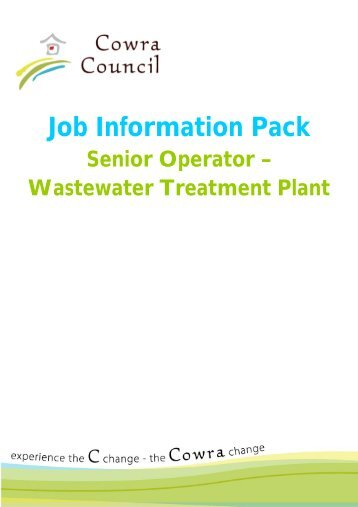 Senior Operator – Wastewater Treatment Plant - Cowra Council