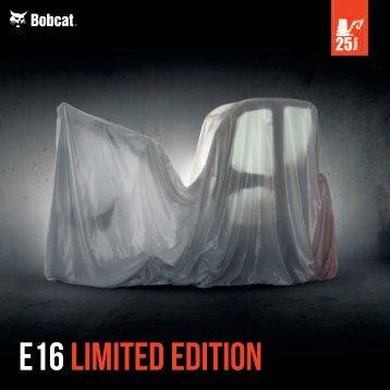 E16 Excavator brochure - Bobcat.eu