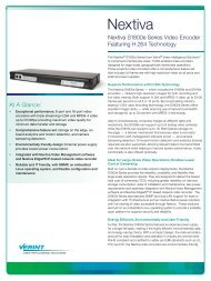 Nextiva S1800e Series Data Sheet.pdf - Leading provider of ...