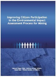 Improving public participation in the environmental impact ...