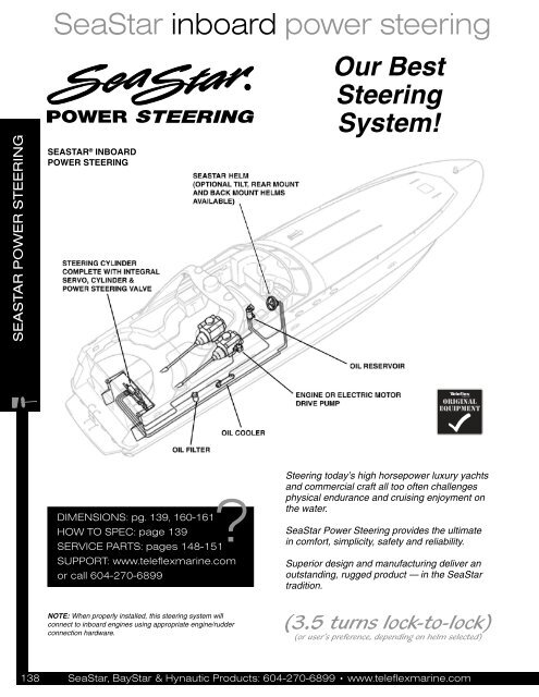 SeaStar inboard power steering - Jamestown Distributors