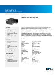 Eclipse Datasheet - Teledyne DALSA Inc
