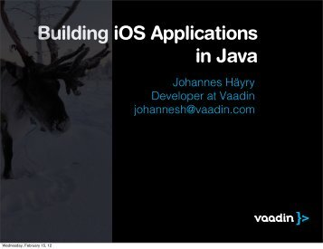 Building iOS Applications in Java - Jfokus