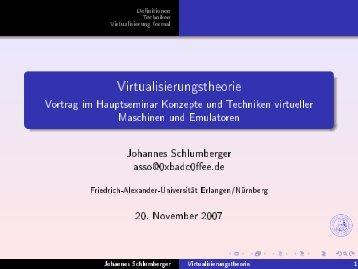 Virtualisierungstheorie eserved@d =[@let@token - Friedrich ...
