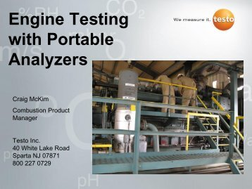 Engine Testing with Portable Analyzers