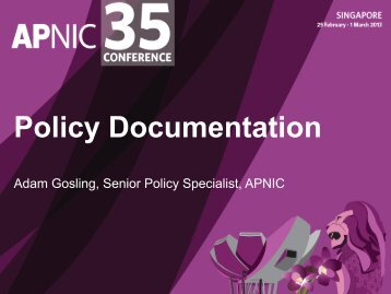 Policy Documentation