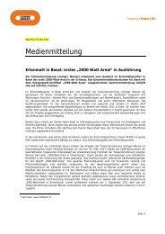"""Erlenmatt in Basel: erstes """"2000 Watt Areal"""" - Losinger"""