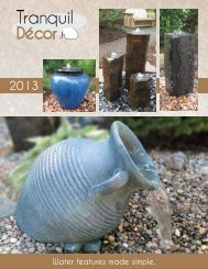 Tranquil Décor Fountains - EasyPro Pond Products