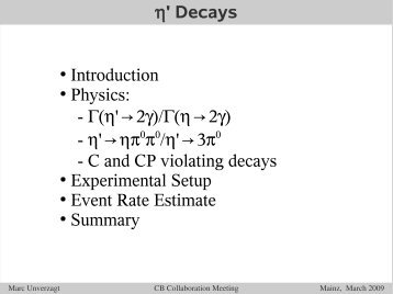 ' Decays Introduction Physics: - ('→2)/(→2 ... - A2 Mainz