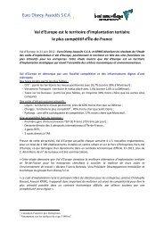 Une étude KPMG réalisée en 2012 - Euro Disney SCA - Disneyland ...