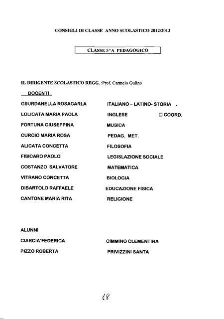 Anno Scolastico 201212013 - Liceo Platone