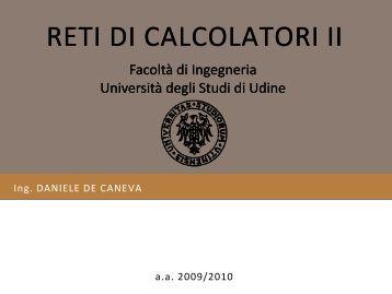 Spanning Tree Protocol - diegm - Università degli studi di Udine