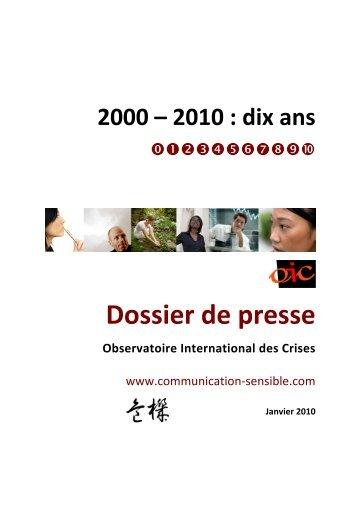 Dossier de presse - Magazine de la communication de crise et ...