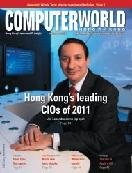 Hong Kong's leading CIOs of 2011 - enterpriseinnovation.net