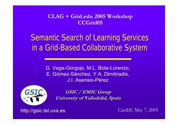 Semantic Search of Learning Services in a Grid-Based ...