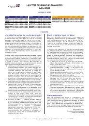 Juillet 2009 - Efigest Asset Management