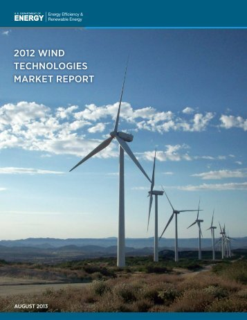 2012 Wind Technologies Market Report - Electricity Market and Policy