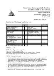 Protokoll der PGR-Sitzung am 31. Mai 2010 - Herz Jesu Fechenheim