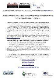 xii encontro da associação brasileira de literatura comparada - Abralic