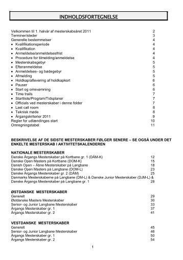 Mesterskabsfolder 2011 - Dansk Svømmeunion