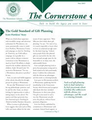 The Cornerstone - The Westminster Schools