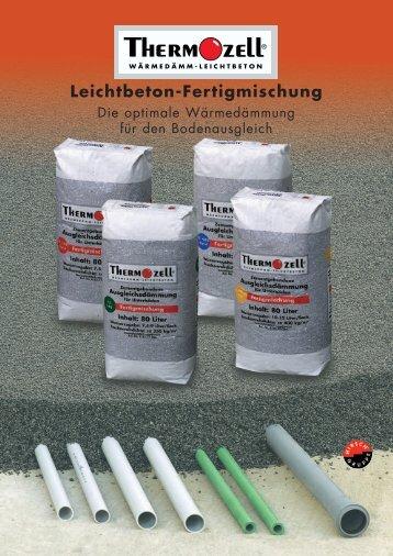 Leichtbeton-Fertigmischung - Thermozell Entwicklungs