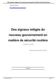 Des signaux mitigés du nouveau gouvernement en ... - FFMC43