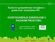 Gospodarenje energijom u radnom prostoru, Jelena Kremenjaš - IDA