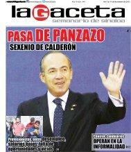 SEXENIO DE CALDERÓN - SEMANARIO LA GACETA