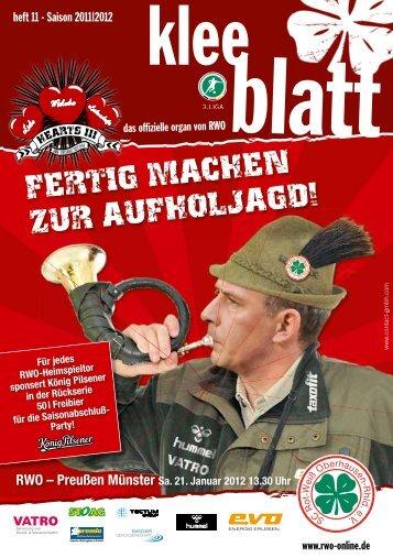 fertig machen zur aufholjagd! - SC Rot-Weiß Oberhausen eV