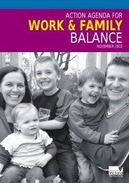 work & family balance - Australian Industrial Relations Commission