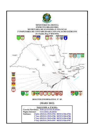 (MAIO/ 2012) - 2ª ICFEx - Exército Brasileiro