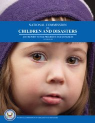 National Commission on Children and Disasters. 2010 Report to the ...