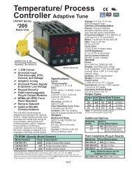 Temperature/ Process Controller Adaptive Tune