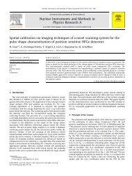 Spatial calibration via imaging techniques of a novel scanning ...