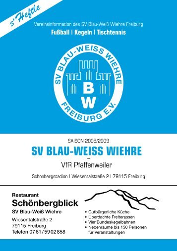 21.09.2008 SV Blau-Weiss Wiehre gegen VfR Pfaffenweiler