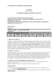 Conversia energiei-Control si aplicatii - Facultatea de Automatică și ...