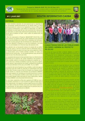 Boletín Nº 3 - Universidad Nacional Agraria La Molina